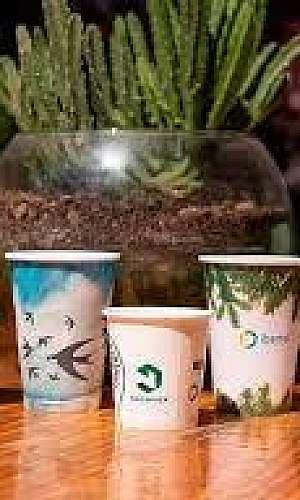 Copo de papel biodegradável personalizado