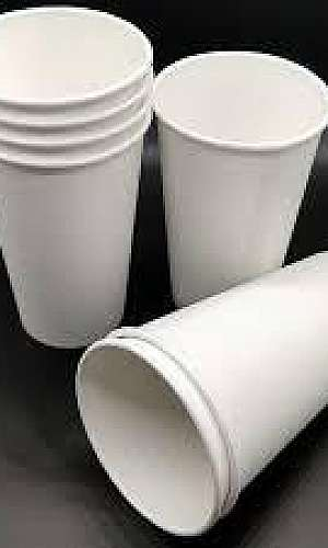 Copo de papel biodegradável