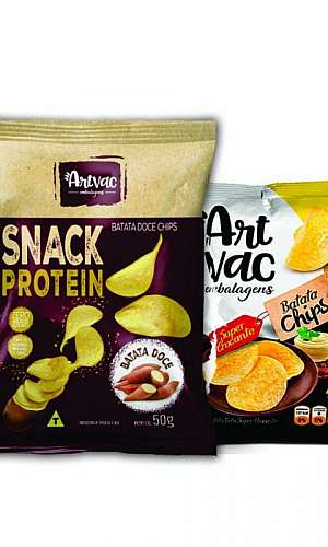 Embalagem plástica para batata chips