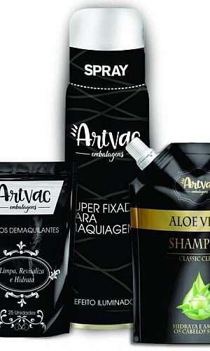 Embalagens plásticas cosméticos