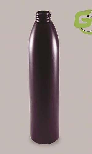 Frasco oval de plástico
