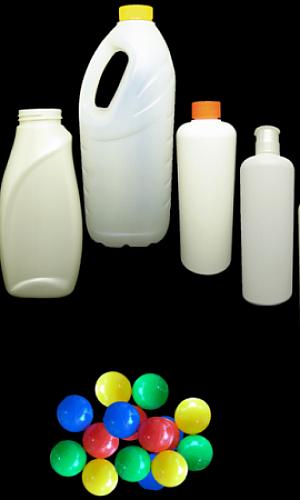 Frascos de plástico