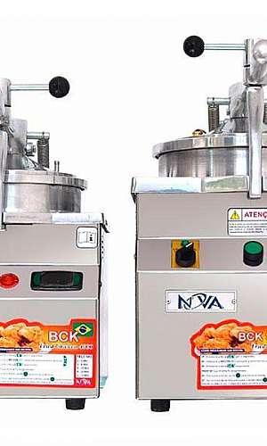 Fritadeira de frango industrial sob pressão