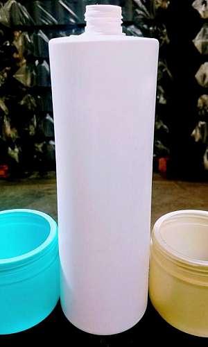 Potes e frascos plásticos