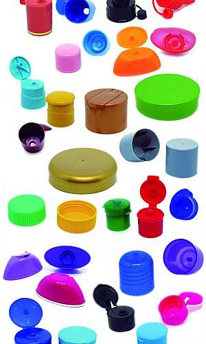 Tampas plásticas injetadas