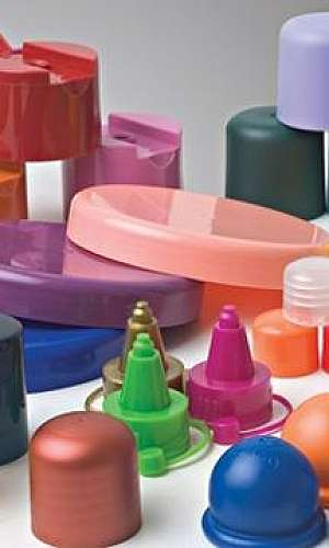 Tampas plásticas para cosméticos