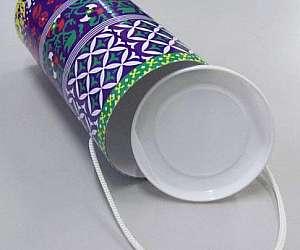 Tubo de papelão com tampa plástica